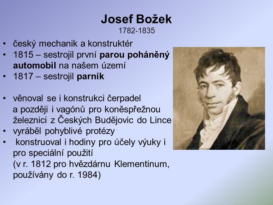Josef Božek 1782-1835 český mechanik a konstruktér