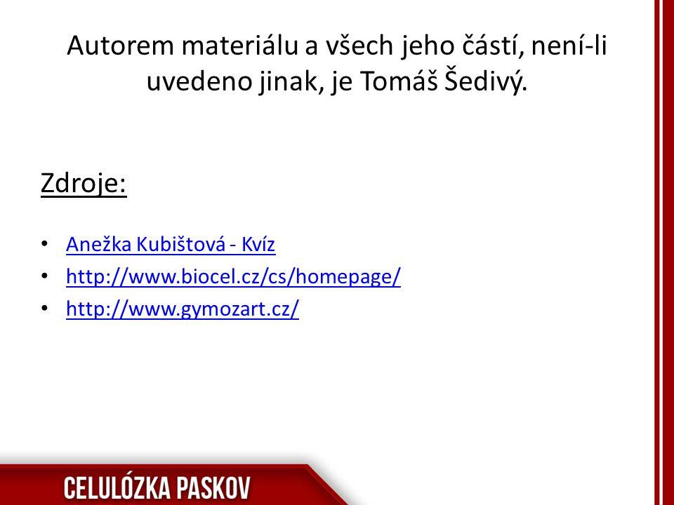 Autorem materiálu a všech jeho částí, není-li uvedeno jinak, je Tomáš Šedivý.