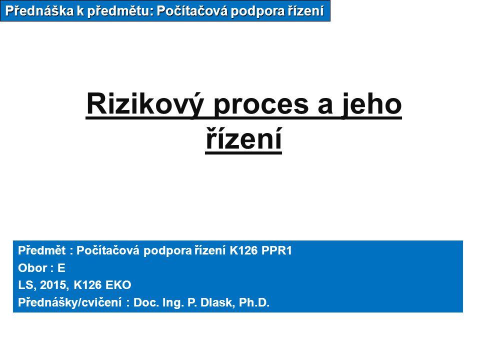 Rizikový proces a jeho řízení