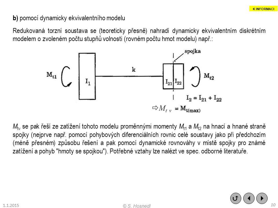 b) pomocí dynamicky ekvivalentního modelu