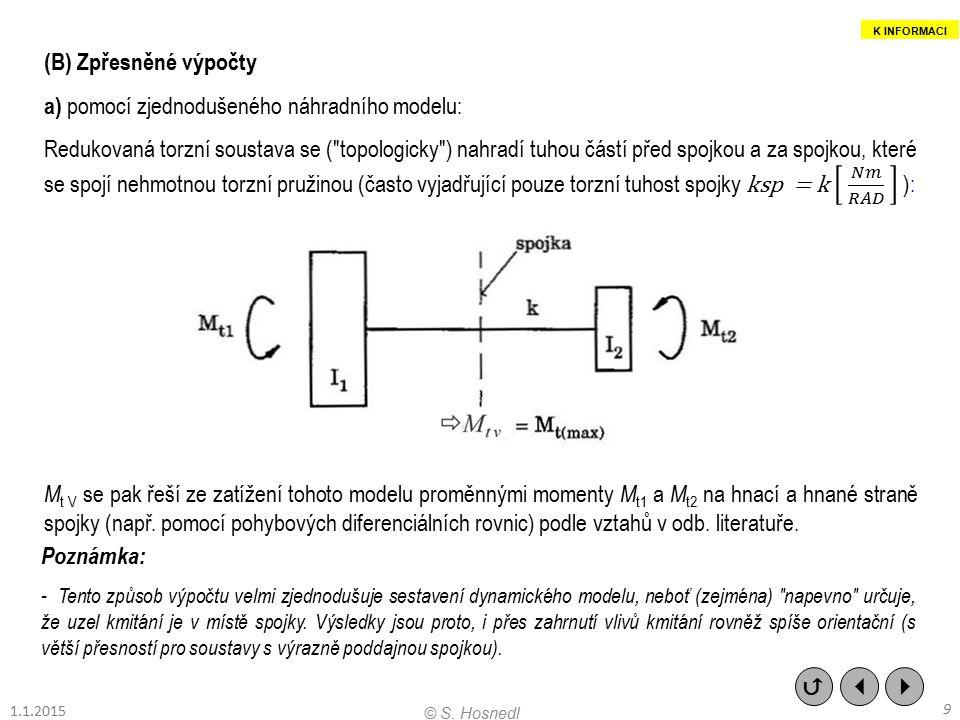 a) pomocí zjednodušeného náhradního modelu: