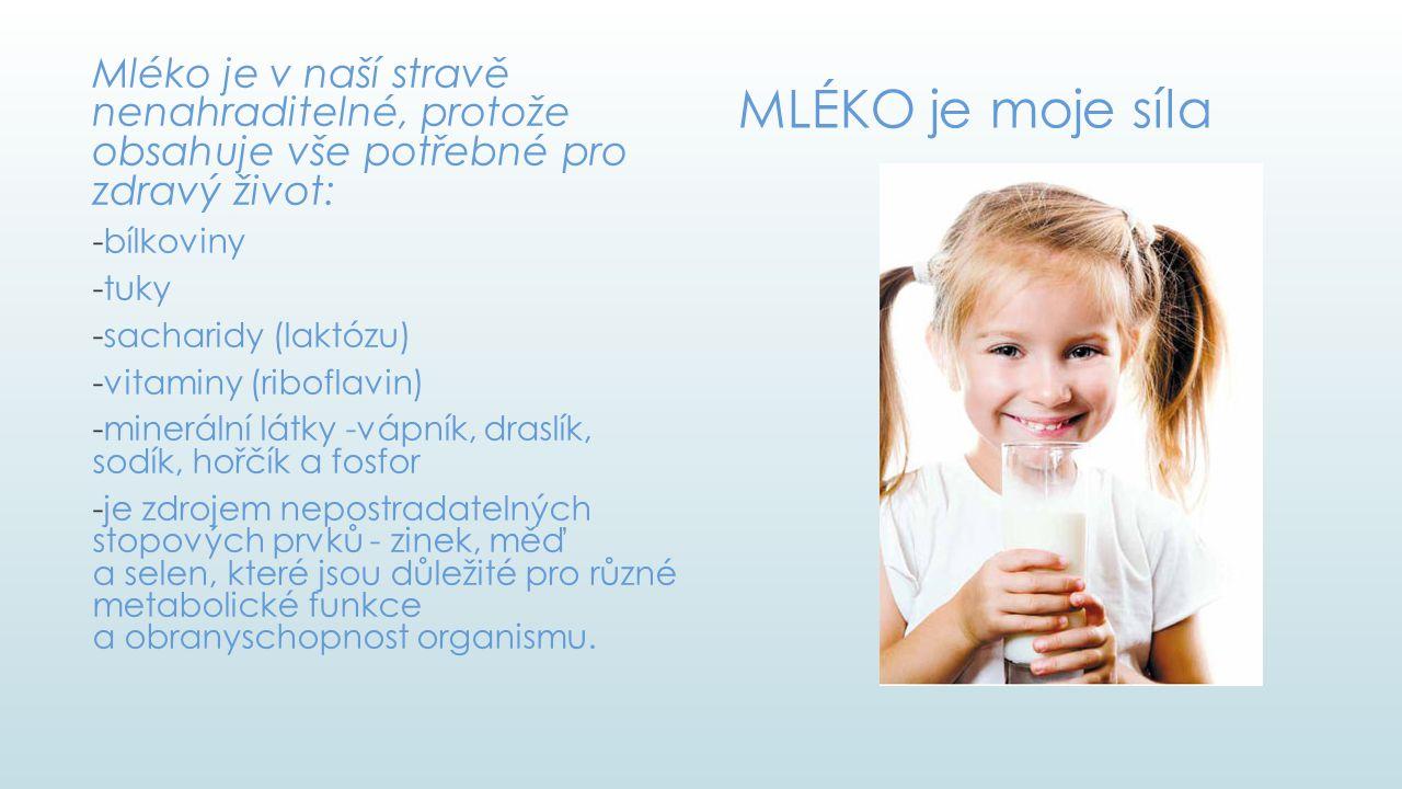 Mléko je v naší stravě nenahraditelné, protože obsahuje vše potřebné pro zdravý život: