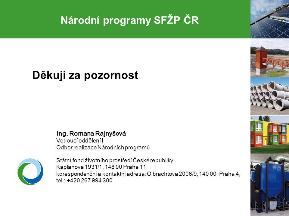 Národní programy SFŽP ČR