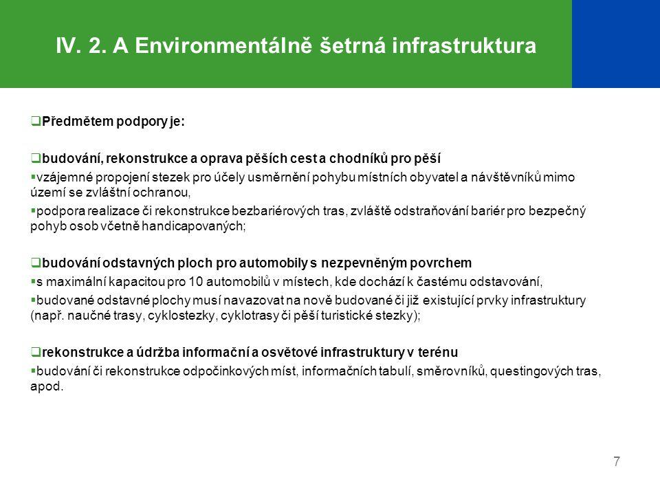 IV. 2. A Environmentálně šetrná infrastruktura