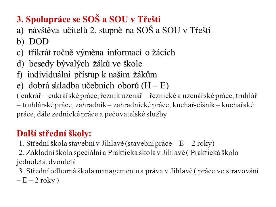 3. Spolupráce se SOŠ a SOU v Třešti a) návštěva učitelů 2