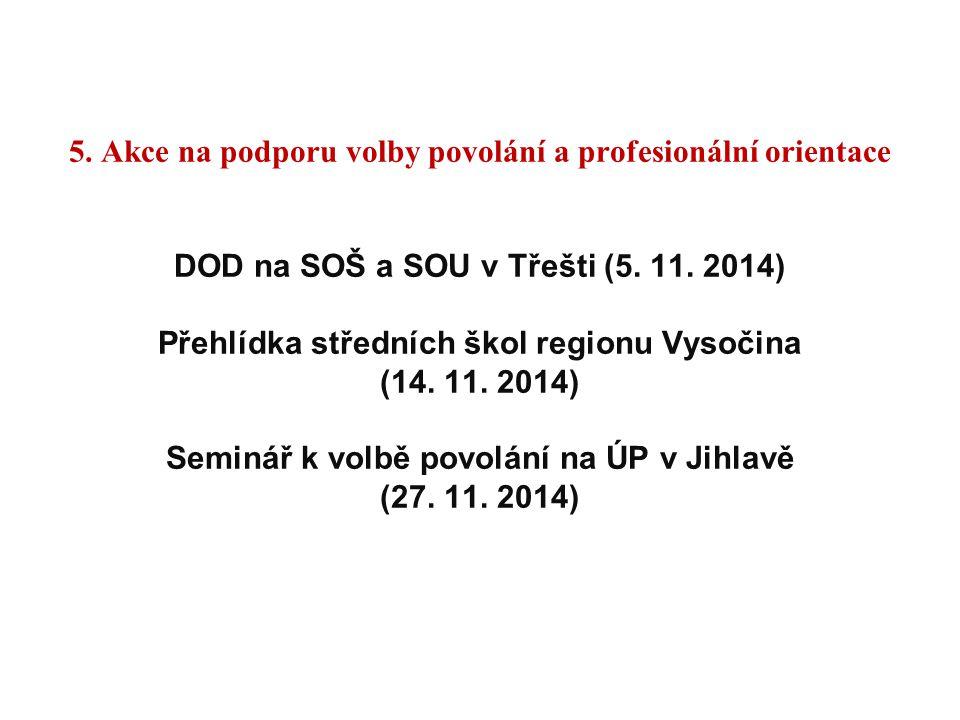 5. Akce na podporu volby povolání a profesionální orientace DOD na SOŠ a SOU v Třešti (5.