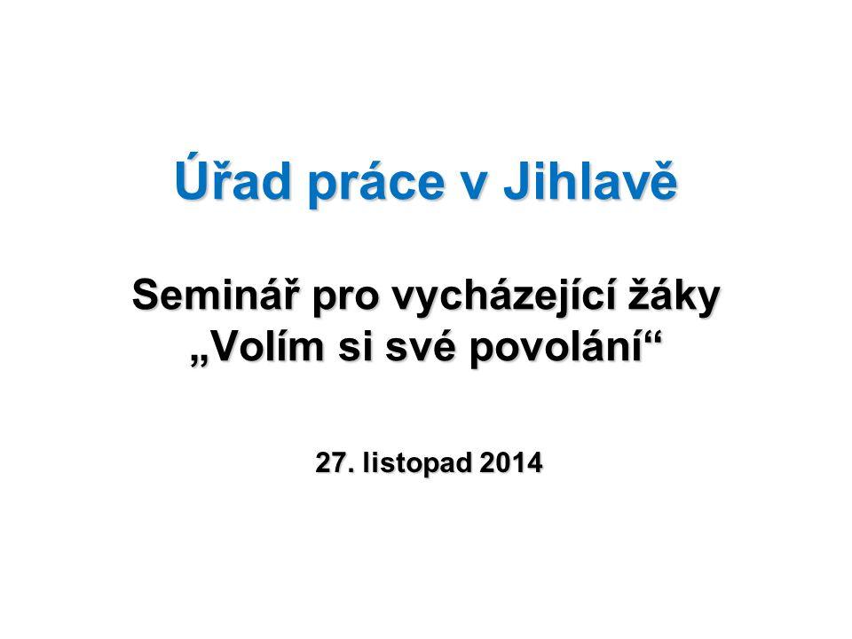 """Úřad práce v Jihlavě Seminář pro vycházející žáky """"Volím si své povolání"""