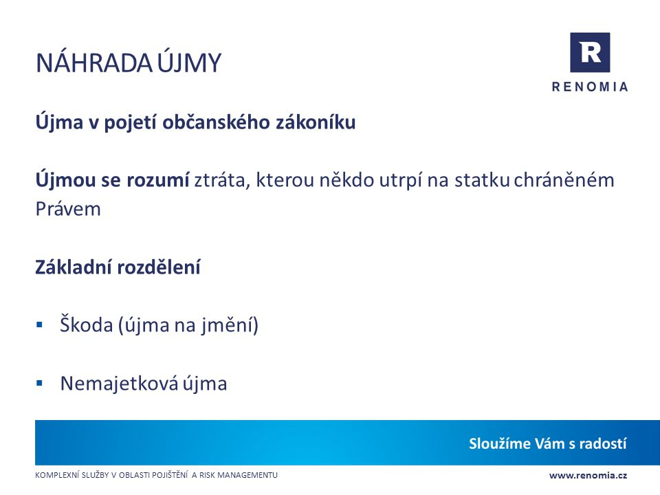náhrada újmy Újma v pojetí občanského zákoníku
