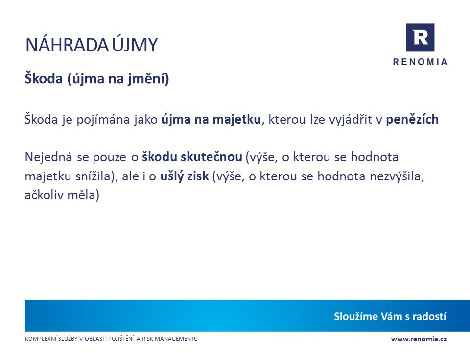 náhrada újmy Škoda (újma na jmění)
