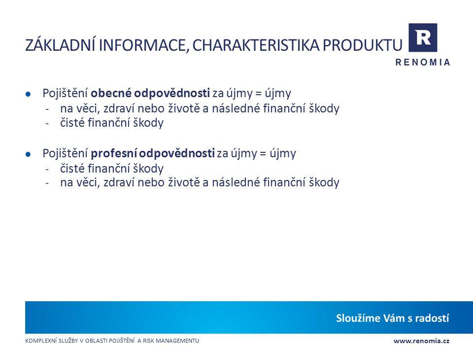 Základní informace, charakteristika produktu