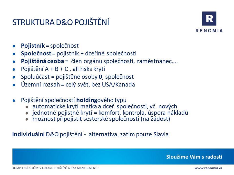 Struktura D&O pojištění