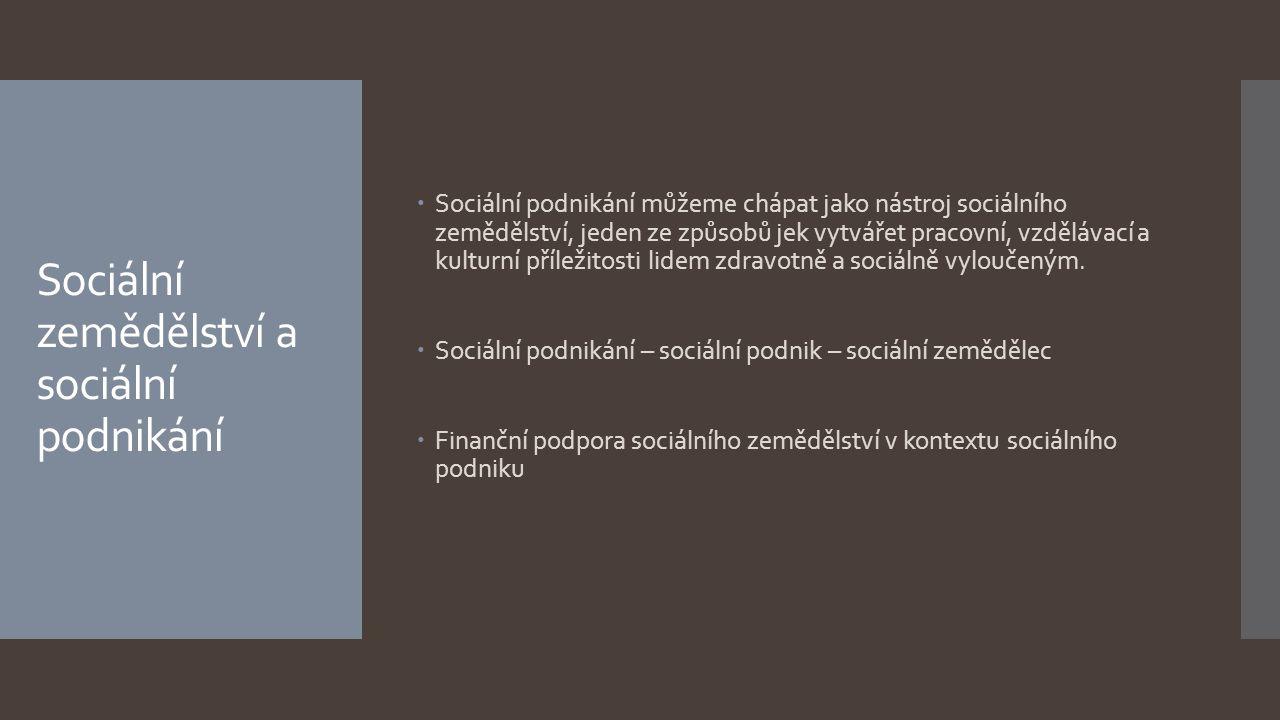Sociální zemědělství a sociální podnikání