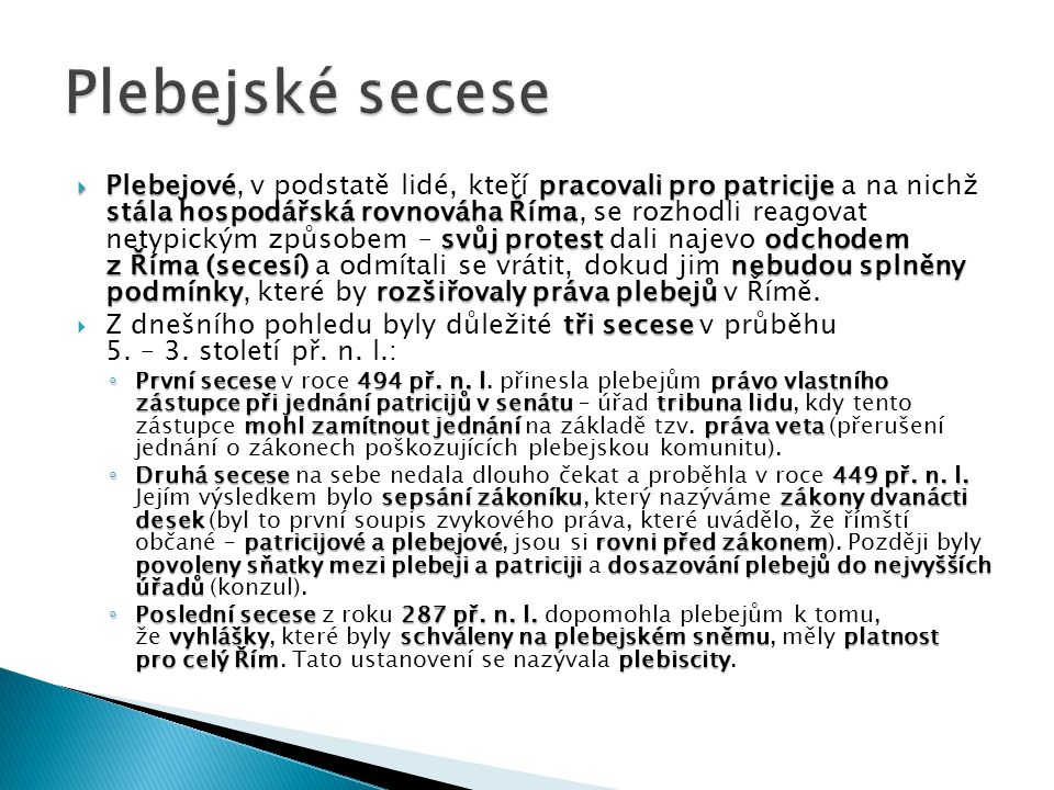 Plebejské secese
