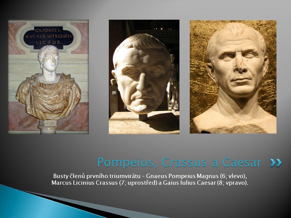 Pompeius, Crassus a Caesar