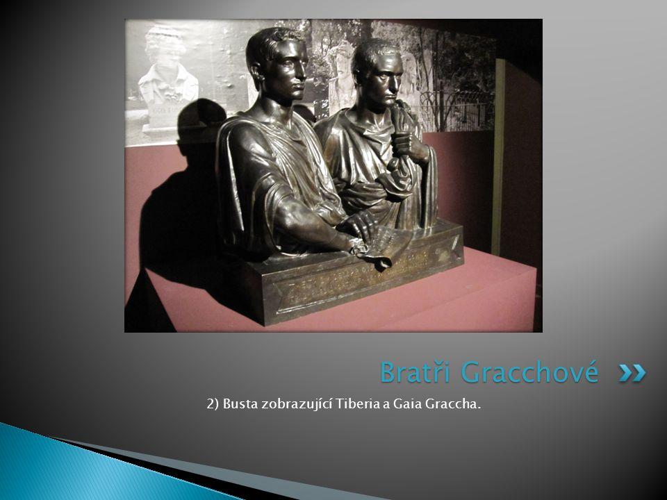 2) Busta zobrazující Tiberia a Gaia Graccha.