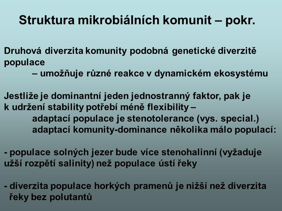 Struktura mikrobiálních komunit – pokr.
