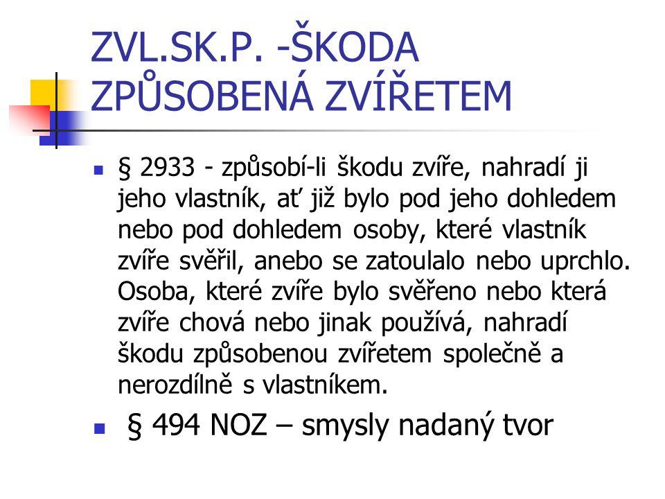 ZVL.SK.P. -ŠKODA ZPŮSOBENÁ ZVÍŘETEM