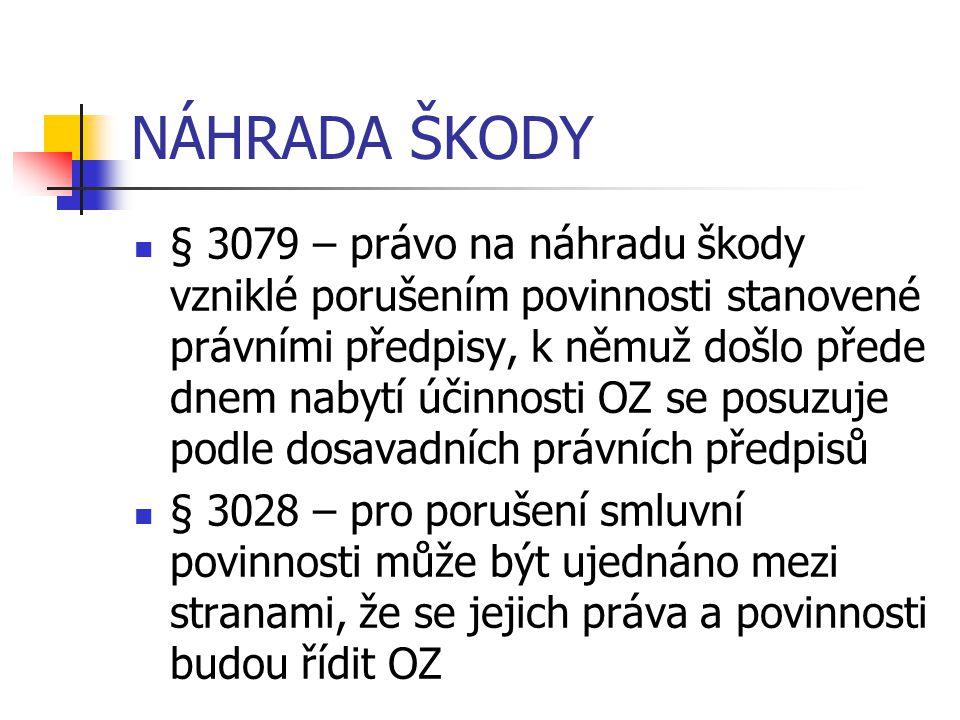 NÁHRADA ŠKODY