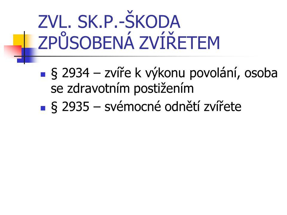 ZVL. SK.P.-ŠKODA ZPŮSOBENÁ ZVÍŘETEM