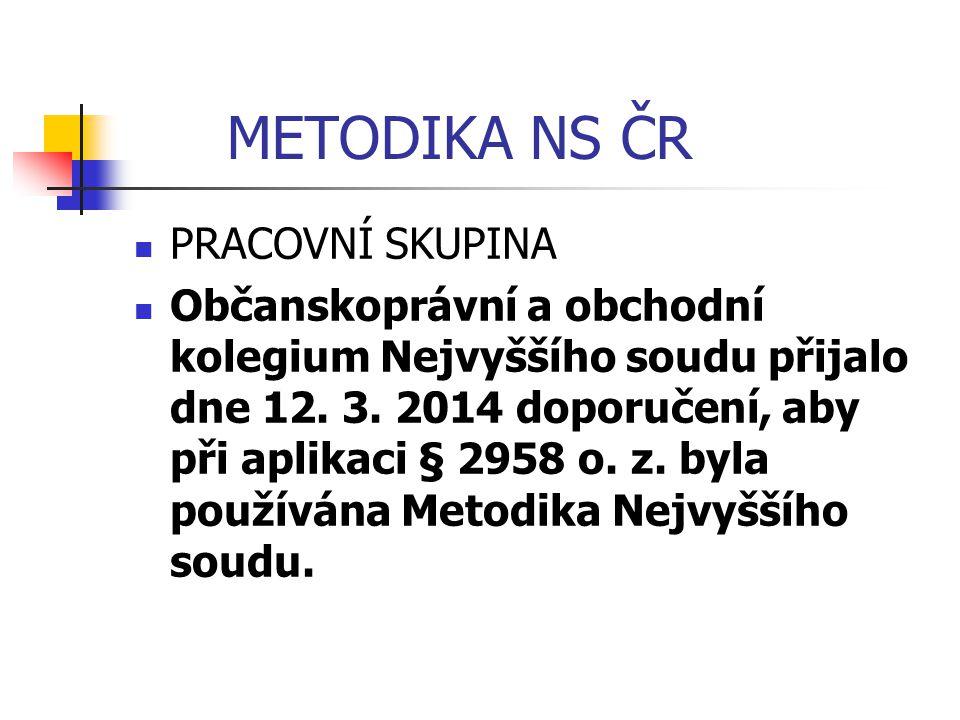 METODIKA NS ČR PRACOVNÍ SKUPINA