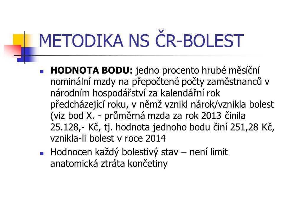 METODIKA NS ČR-BOLEST