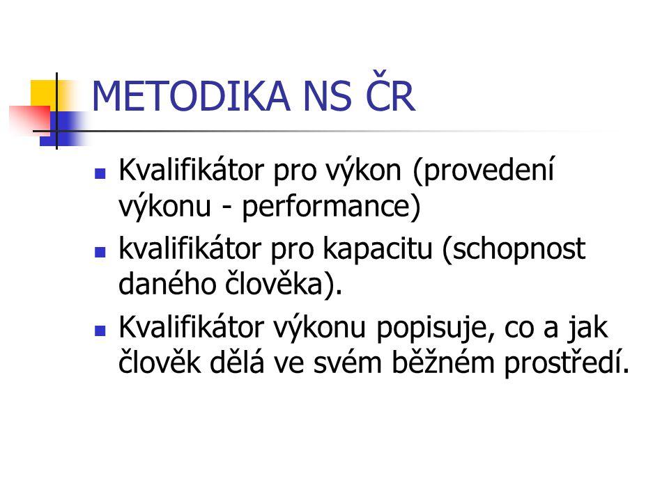 METODIKA NS ČR Kvalifikátor pro výkon (provedení výkonu - performance)