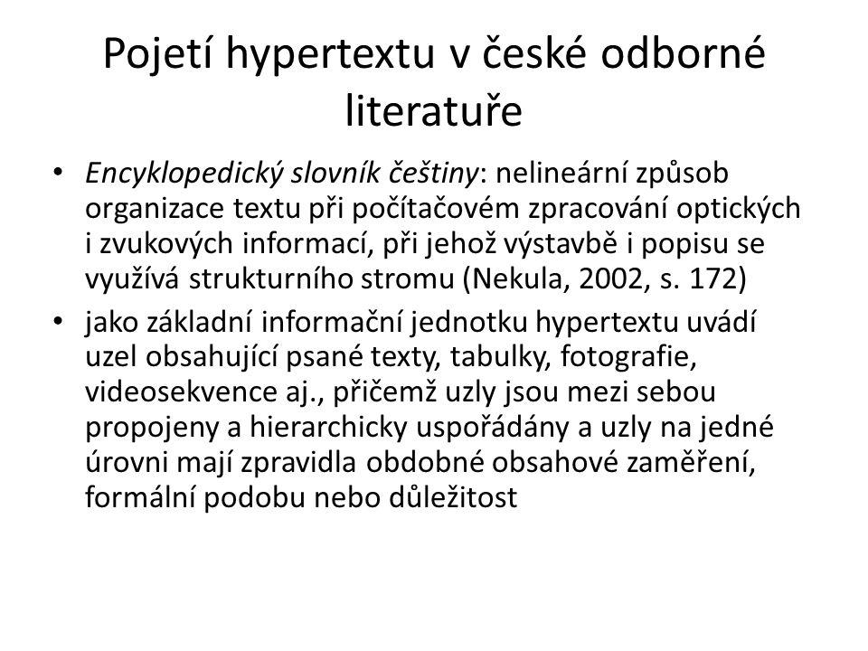 Pojetí hypertextu v české odborné literatuře
