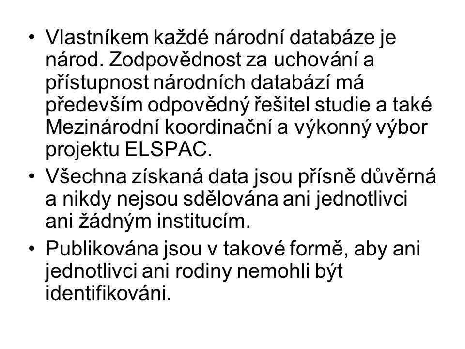 Vlastníkem každé národní databáze je národ