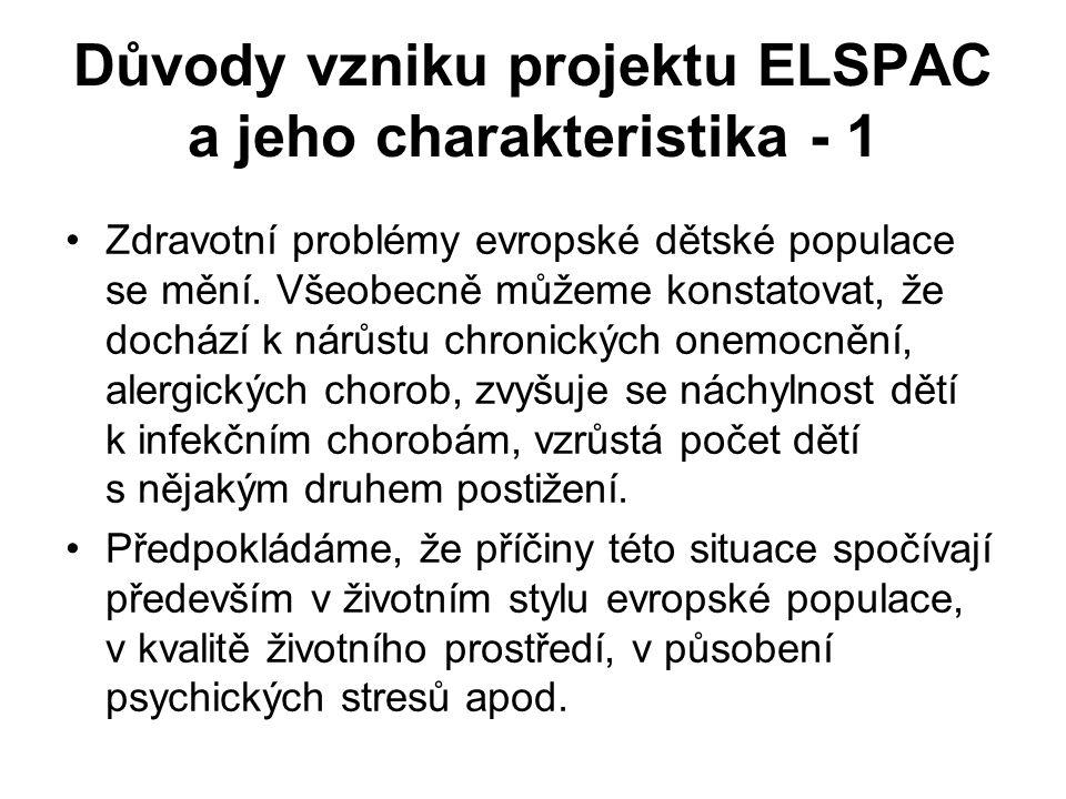 Důvody vzniku projektu ELSPAC a jeho charakteristika - 1