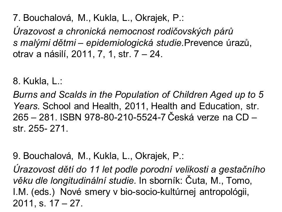7. Bouchalová, M., Kukla, L., Okrajek, P.: