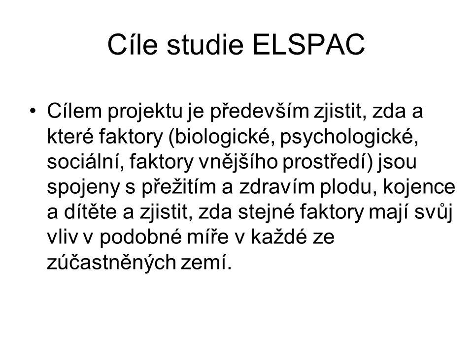 Cíle studie ELSPAC