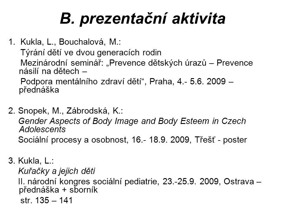 B. prezentační aktivita
