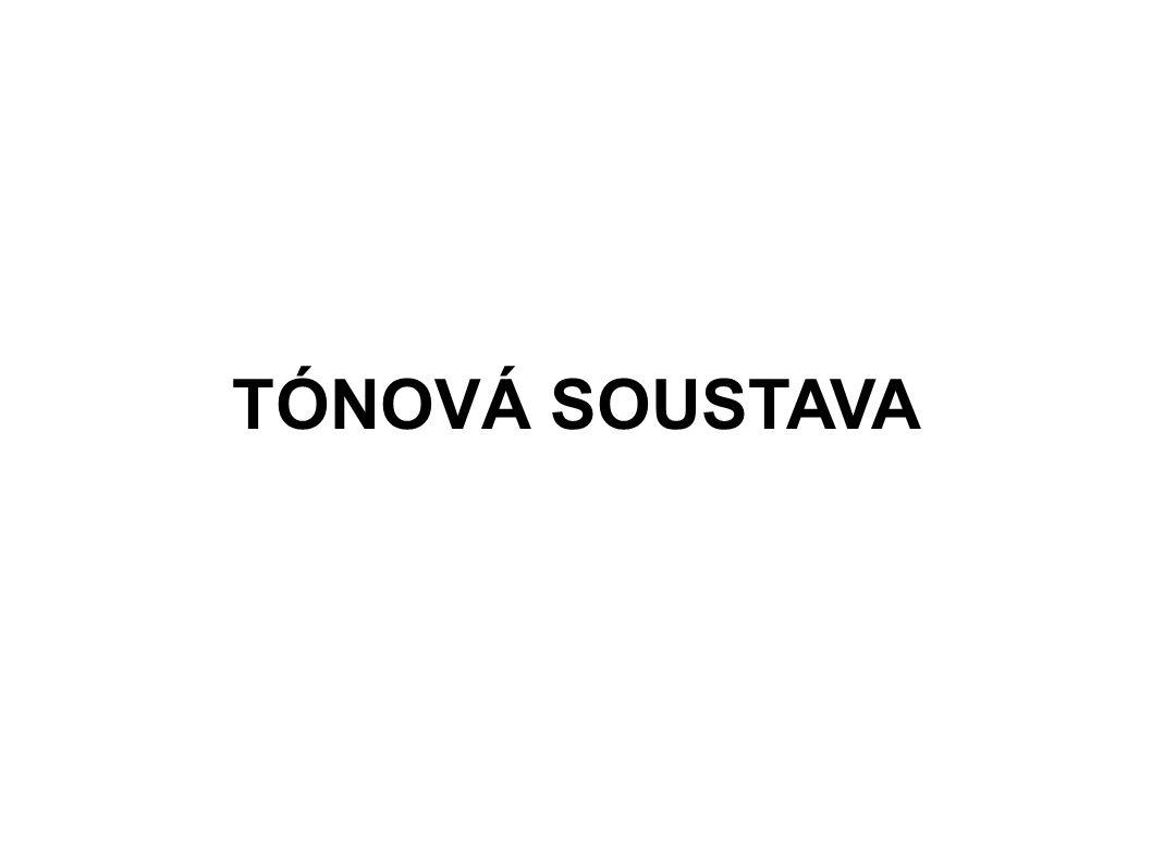 TÓNOVÁ SOUSTAVA