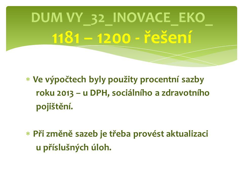DUM VY_32_INOVACE_EKO_ 1181 – 1200 - řešení