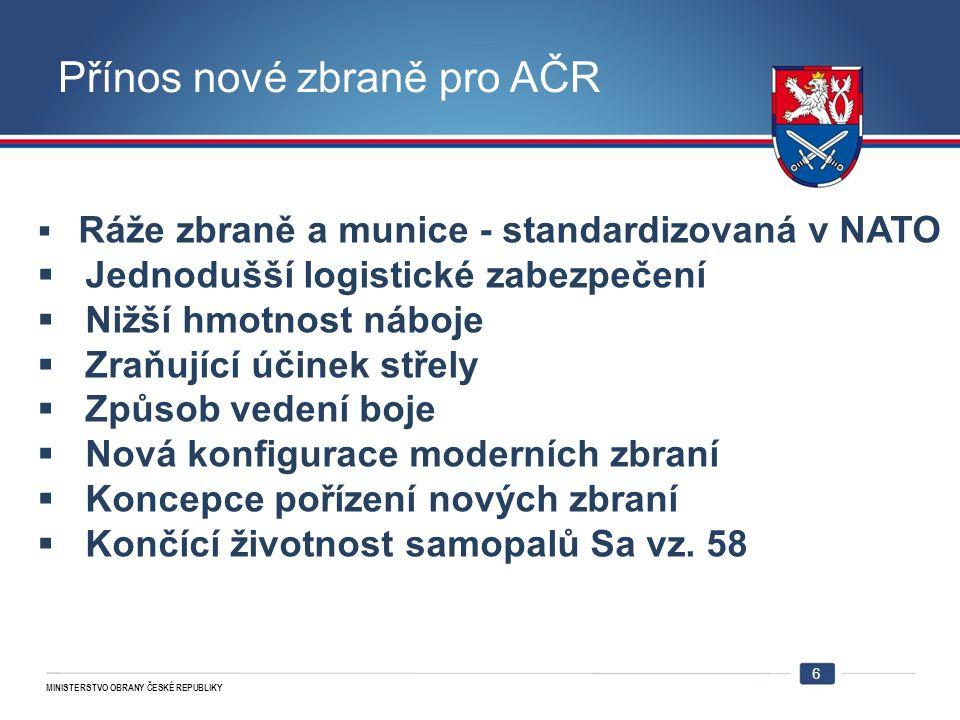 Přínos nové zbraně pro AČR