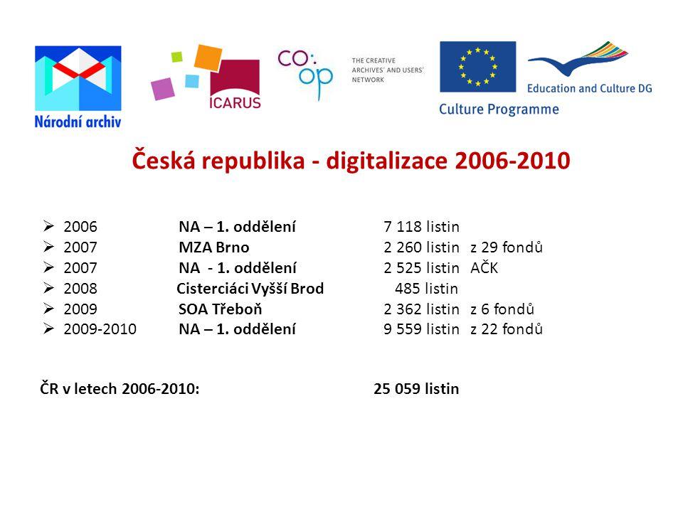 Česká republika - digitalizace 2006-2010