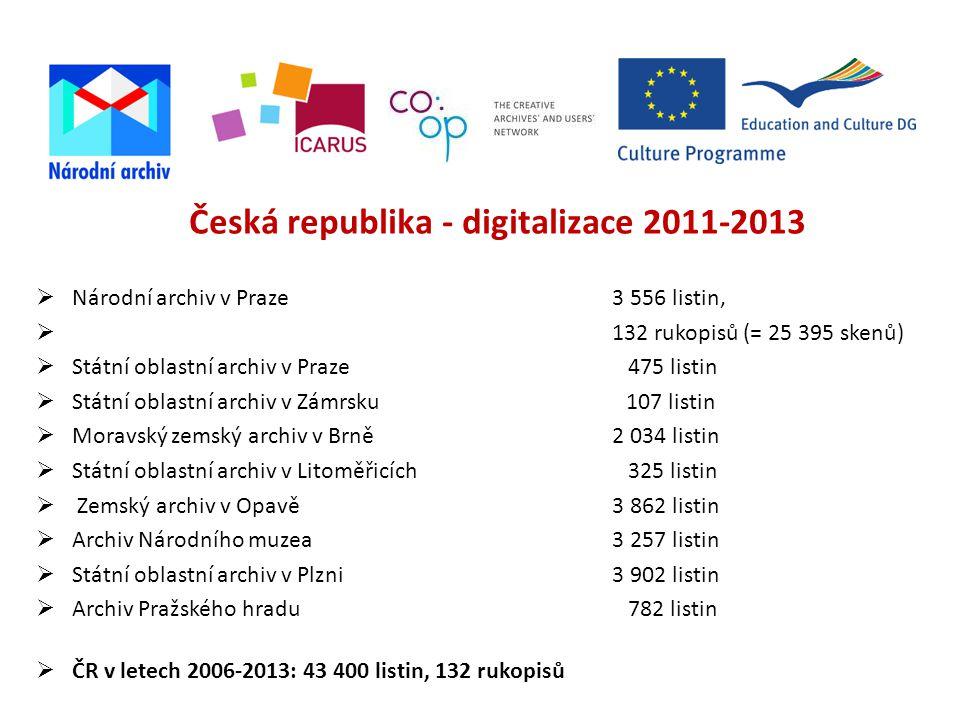 Česká republika - digitalizace 2011-2013