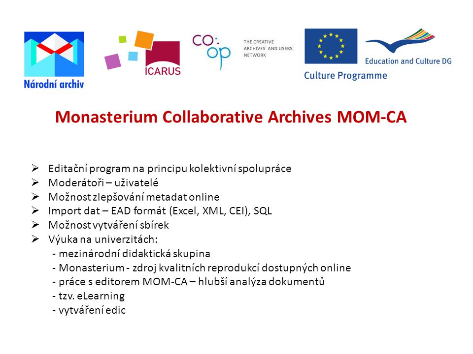 Monasterium Collaborative Archives MOM-CA