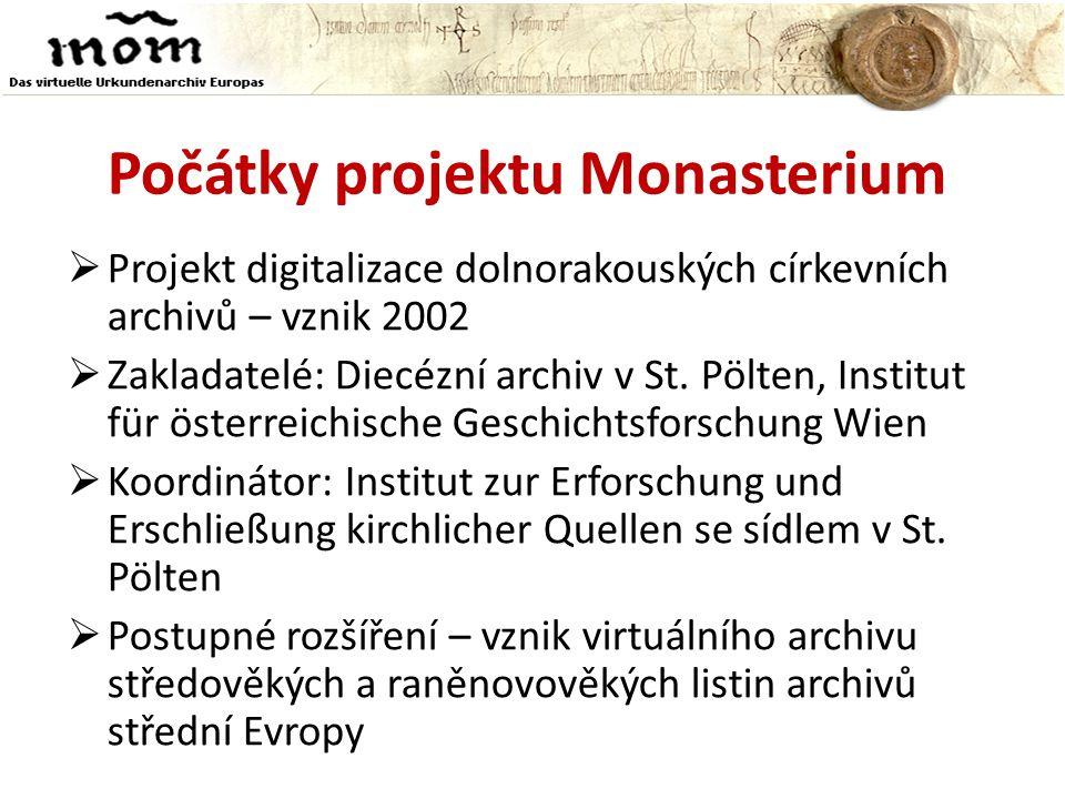 Počátky projektu Monasterium