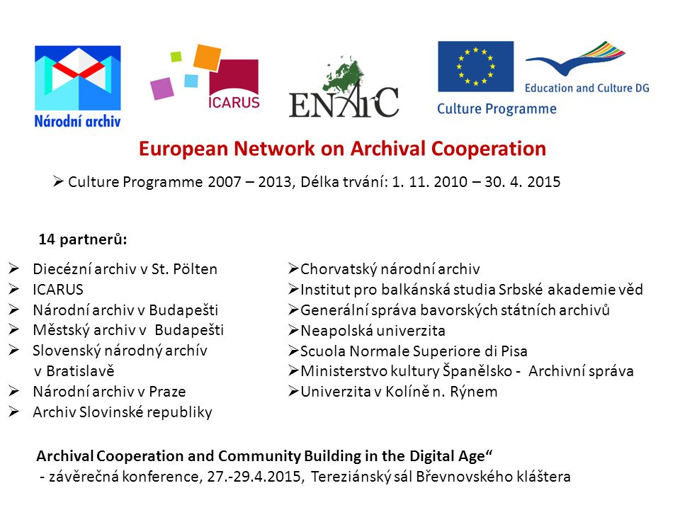 European Network on Archival Cooperation