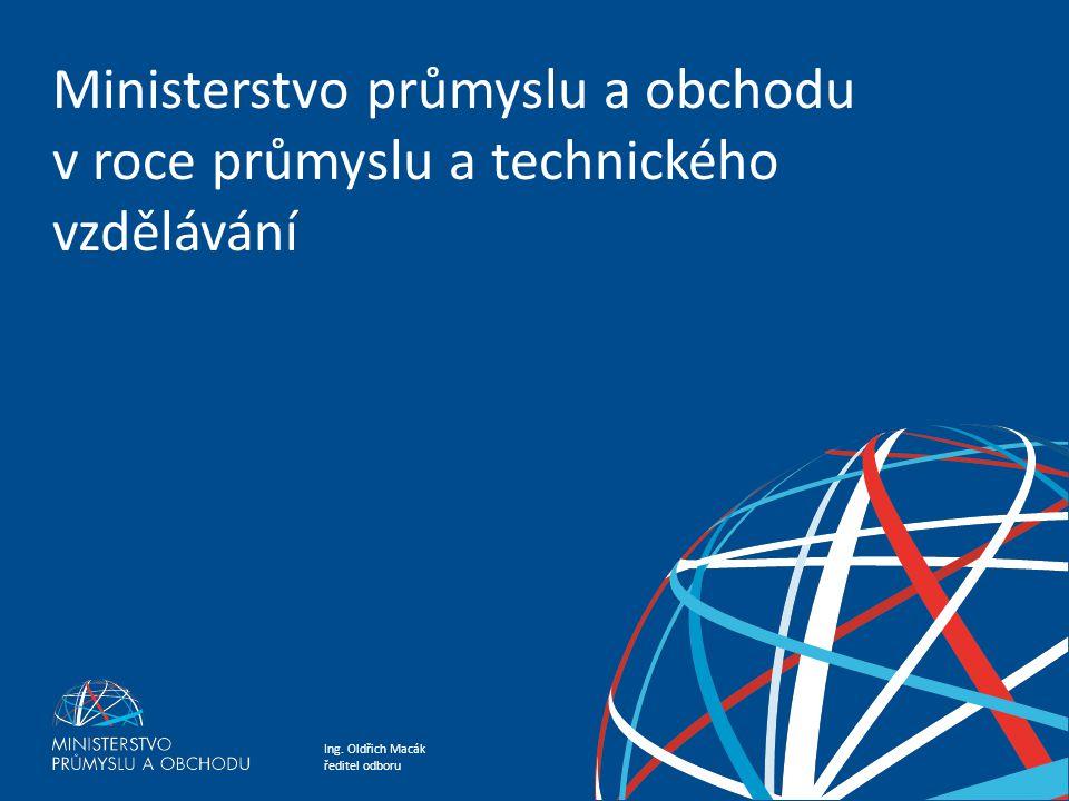 Ministerstvo průmyslu a obchodu v roce průmyslu a technického vzdělávání