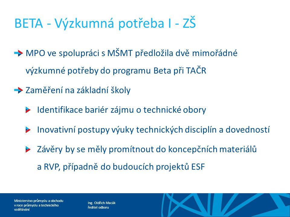 BETA - Výzkumná potřeba I - ZŠ
