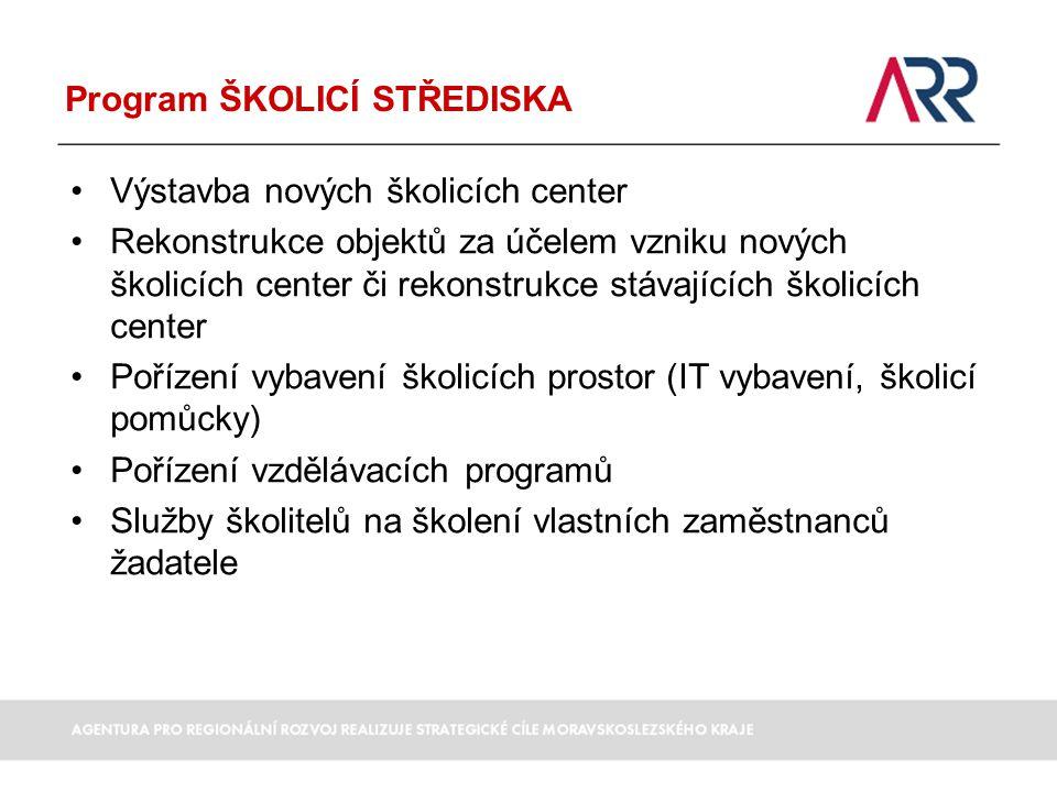 Program ŠKOLICÍ STŘEDISKA