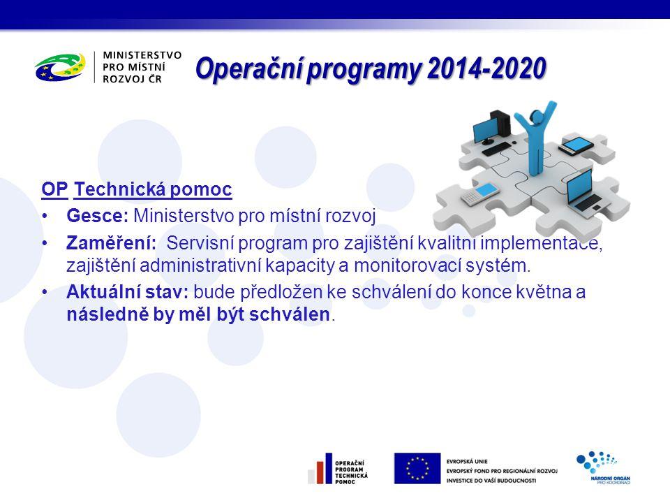 Operační programy 2014-2020 OP Technická pomoc
