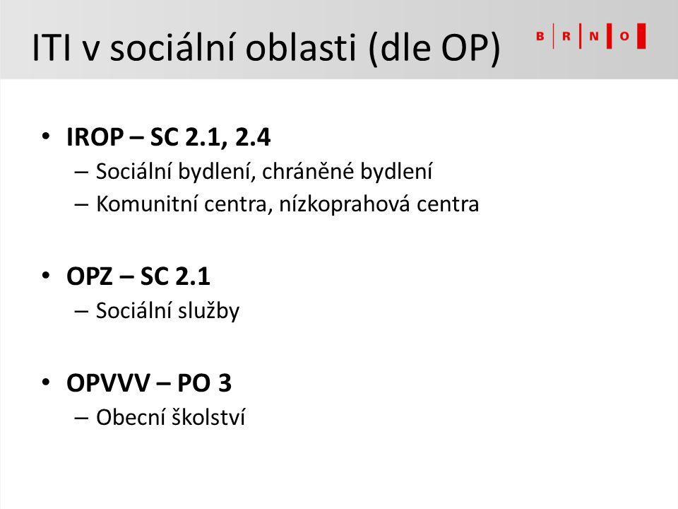 ITI v sociální oblasti (dle OP)
