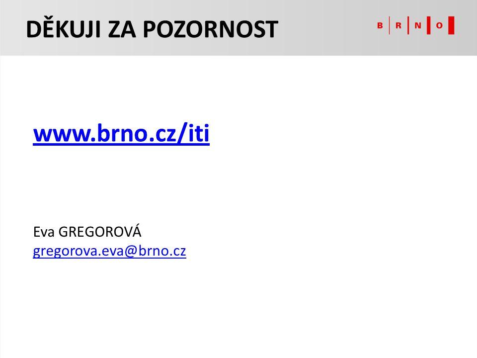 DĚKUJI ZA POZORNOST www.brno.cz/iti Eva GREGOROVÁ