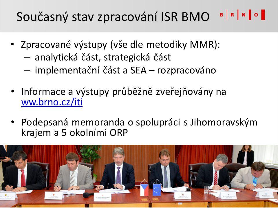 Současný stav zpracování ISR BMO