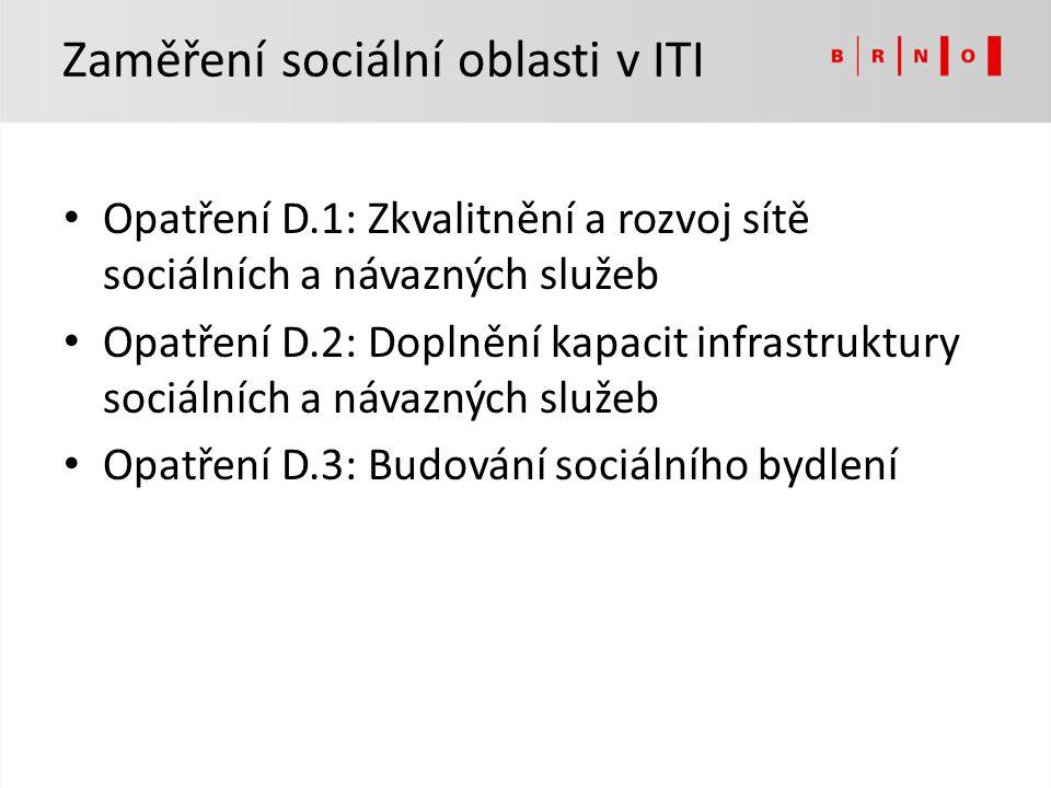 Zaměření sociální oblasti v ITI