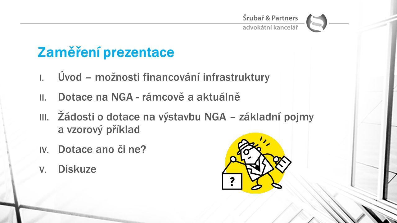 Zaměření prezentace Úvod – možnosti financování infrastruktury