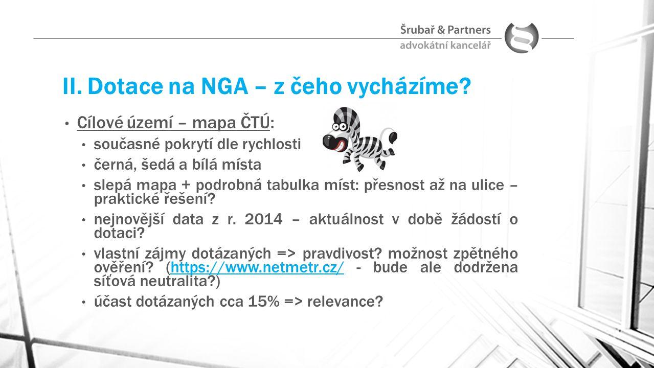 II. Dotace na NGA – z čeho vycházíme